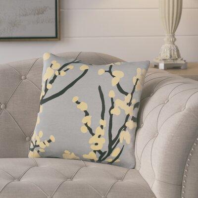 Kerwin Cotton Throw Pillow Color: Gray/ Yellow/ Black
