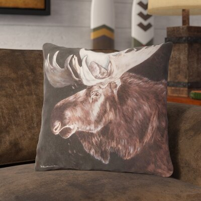 Novello Moose Indoor/Outdoor Throw Pillow
