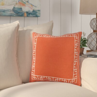 Southlake Cotton Throw Pillow Color: Red/ White