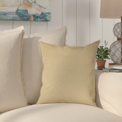 Halliburton Indoor/Outdoor Sunbrella Throw Pillow Color: Spectrum Sand, Size: 18 x 18