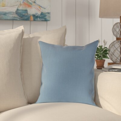 Halliburton Indoor/Outdoor Sunbrella Throw Pillow Color: Air Blue, Size: 18 x 18