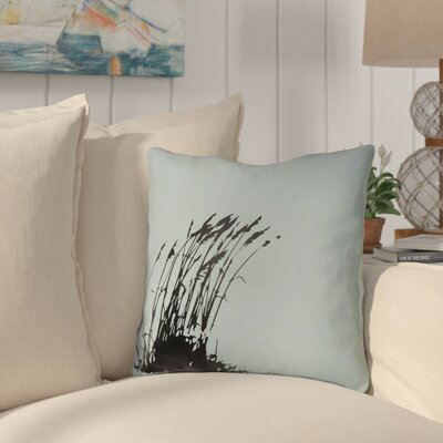 Cournoyer Indoor/Outdoor Throw Pillow Size: 16 H x 16 W, Color: Light Blue/Onyx Black