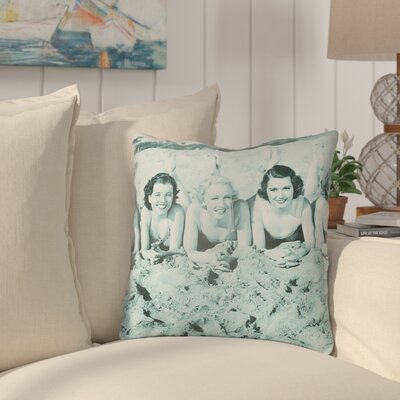 Courter Sandy Indoor/Outdoor Throw Pillow Size: 26 H x 26 W, Color: Teal