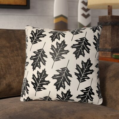 Pitchford Indoor/Outdoor Throw Pillow Size: 16 H x 16 W, Color: Onyx Black/Beige
