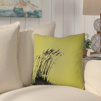 Cournoyer Indoor/Outdoor Throw Pillow Size: 26 H x 26 W, Color: Teal/Onyx Black