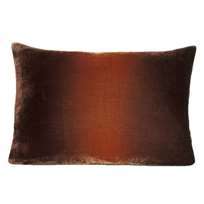 Ombre Velvet Throw Pillow Color: Golden Brown