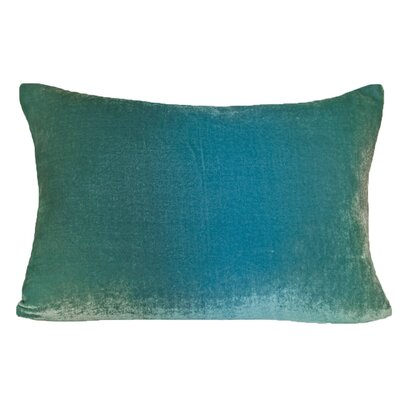 Ombre Velvet Throw Pillow Color: Aqua