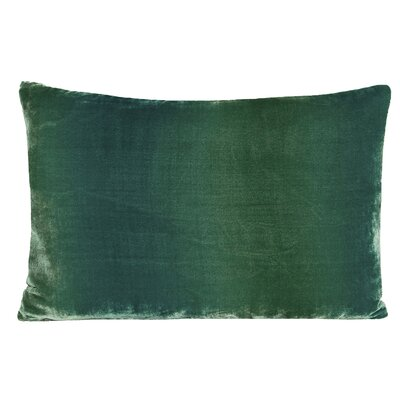 Ombre Velvet Throw Pillow Color: Emerald