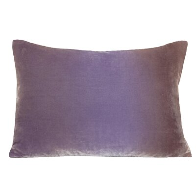 Ombre Velvet Throw Pillow Color: Lilac