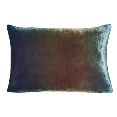 Ombre Velvet Throw Pillow Color: Peacock