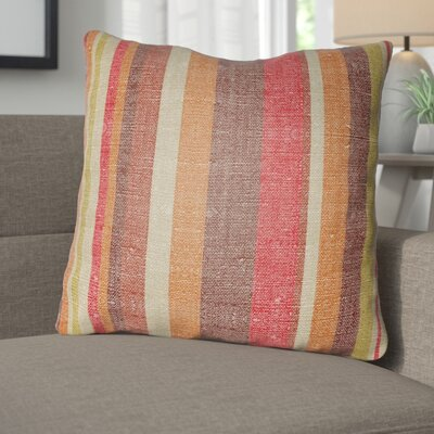 Zebrowski Indoor/Outdoor Throw Pillow Size: 18 H x 18 W, Color: Poppy Red/Burgundy