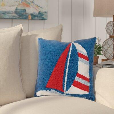 Crossett Sailboat Hooked Throw Pillow