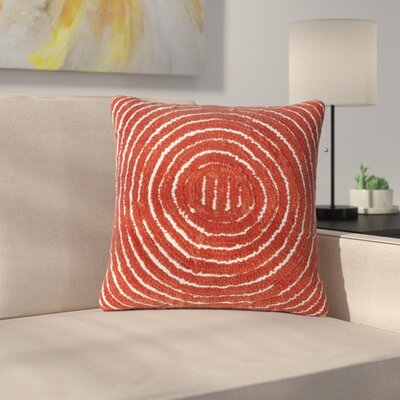 Mulhall Circle Throw Pillow Color: Red