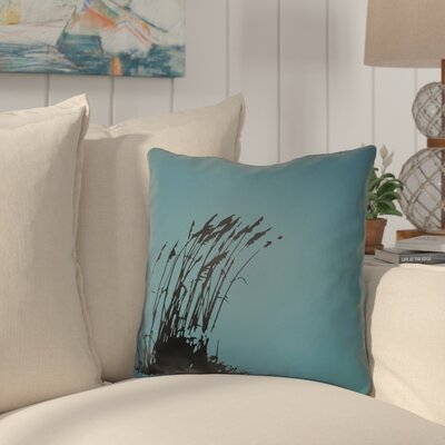 Cournoyer Indoor/Outdoor Throw Pillow Size: 18 H x 18 W, Color: Lime Green/Onyx Black