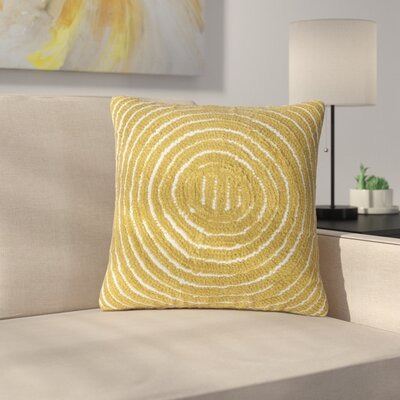 Mulhall Circle Throw Pillow Color: Yellow