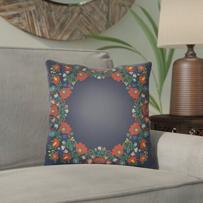 Dillingham Indoor/Outdoor Throw Pillow Size: 20 H x 20 W x 3 D, Color: Navy