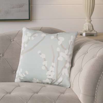 Kerwin Cotton Throw Pillow Color: Dusty Aqua/ Gray/ White