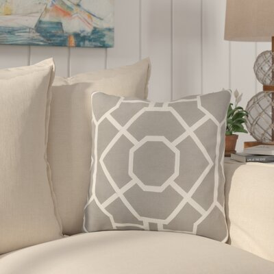 Southlake Cotton Throw Pillow Color: Gray/ White