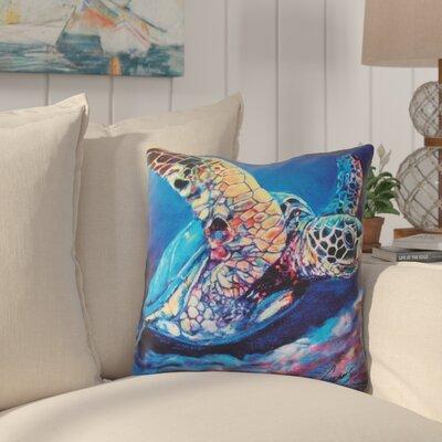 Regan Sea Turtle Ascending Indoor/Outdoor Throw Pillow