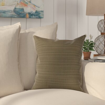 Halliburton Indoor/Outdoor Sunbrella Throw Pillow Color: Dupione Laurel, Size: 18 x 18