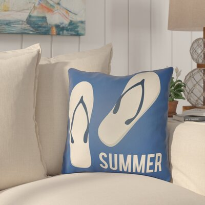 Courtois Summer Indoor/Outdoor Throw Pillow Size: 18 H x 18 W, Color: Royal Blue/Ivory