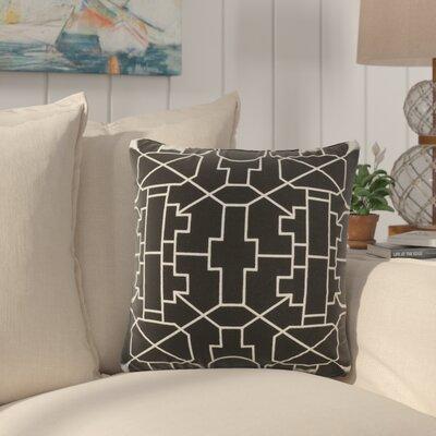 Southlake Cotton Throw Pillow Color: Black/ White