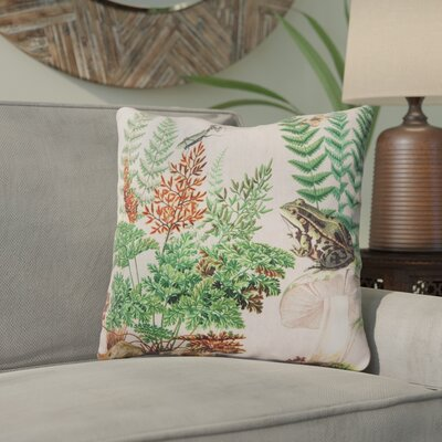 Hibbs Fern & Frog Indoor/Outdoor Throw Pillow