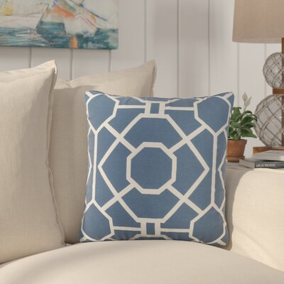 Southlake Cotton Throw Pillow Color: Blue/ White
