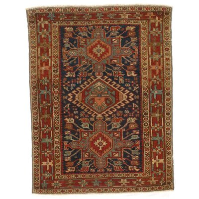 Antique Persian Serapi Hand-Knotted Wool Rust Area Rug