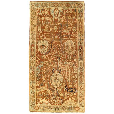 Agra Hand-Knotted Wool Peach Area Rug