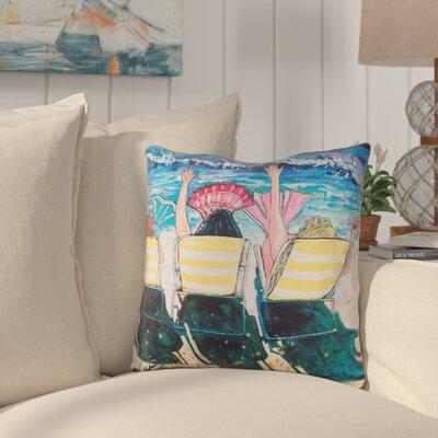 Cervantes Mermaid Beach Party Indoor/Outdoor Throw Pillow