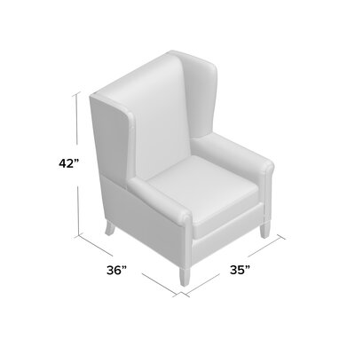 Transitional Wide Wing Chair