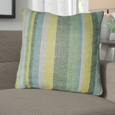 Zebrowski Indoor/Outdoor Throw Pillow Size: 18 H x 18 W, Color: Kelly Green/Forest Green
