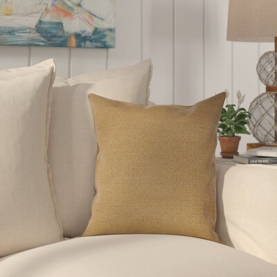 Halliburton Indoor/Outdoor Sunbrella Throw Pillow Color: Linen Sesame, Size: 18 x 18