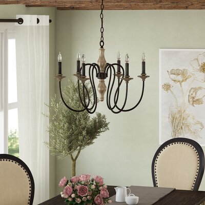 Ismaeil 6-Light Candle-Style Chandelier
