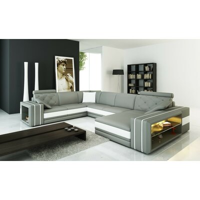 Scarberry Leather Sectional