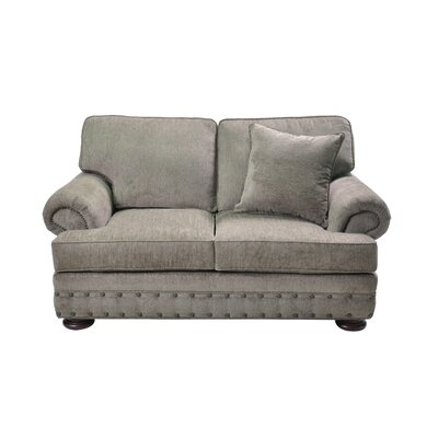 Cassius Stationary Loveseat Upholstery: Gray