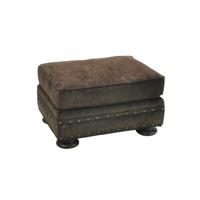 Cassity Stationary Ottoman Upholstery: Brown