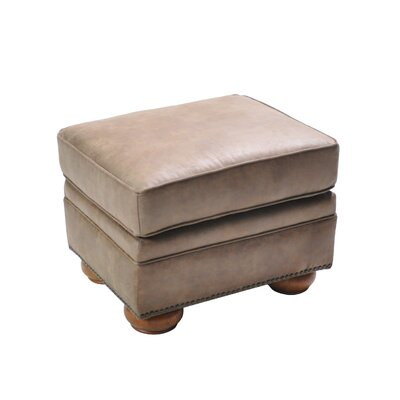 Hutcheson Stationary Ottoman Upholstery: Light Brown