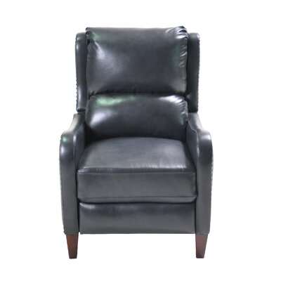 Elwes Push Back Leather Manual Recliner