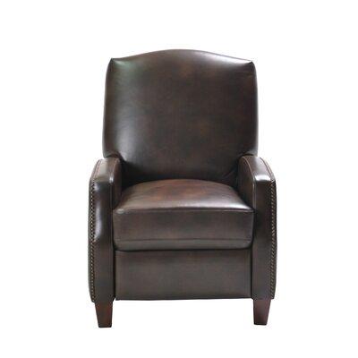 Dougan Push Back Manual Recliner Upholstery: Brown