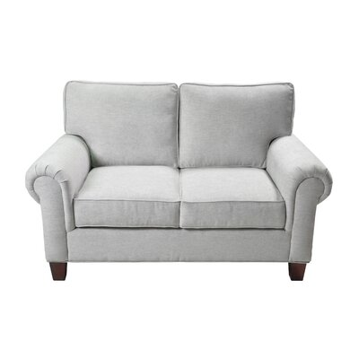Zawacki Stationary Loveseat Upholstery: Cream
