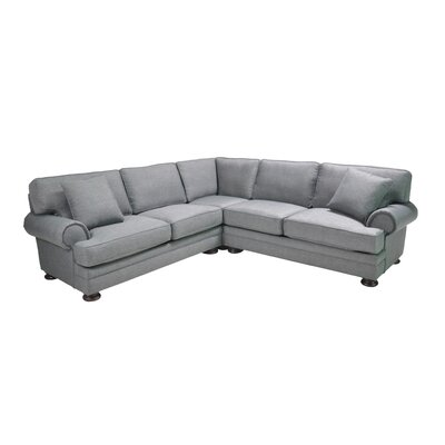 Hutchison Corner Sectional Upholstery: Blue