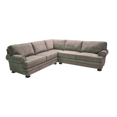 Hutchison Corner Sectional Upholstery: Gray