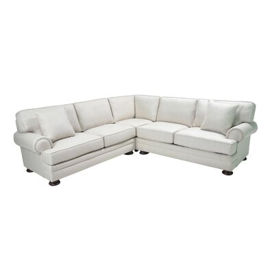 Hutchison Corner Sectional Upholstery: Cream