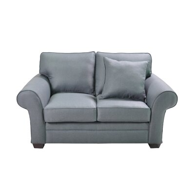 Huggard Stationary Loveseat Upholstery: Blue