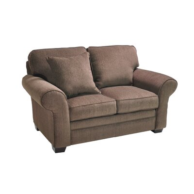 Huggard Stationary Loveseat Upholstery: Brown