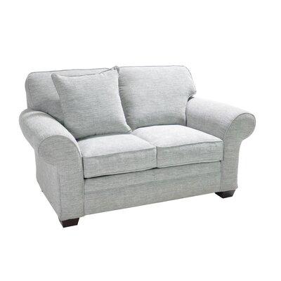 Huggard Stationary Loveseat Upholstery: Light Gray