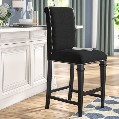 Rowen 26 Bar Stool Upholstery: Charcoal