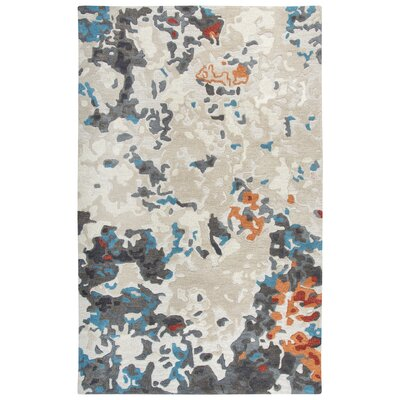 Greco Hand-Tufted Wool Beige Area Rug Rug Size: Rectangle 9 X 12